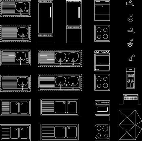 Kitchen Applications Blocks02 Dwg Block For Autocad