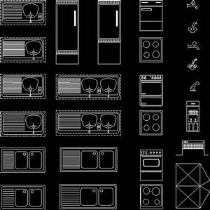 Kitchen applications blocks02 dwg block for autocad for Küchenblocks