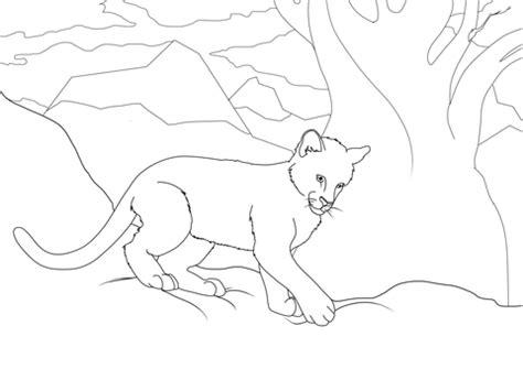 dibujo de cachorro de puma  colorear dibujos