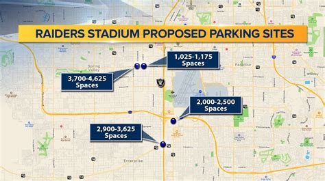 Raiders parking plans showcases 4 possible offsite locations