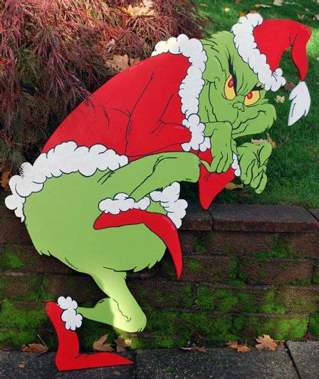 grinch yard art crafts christmas yard art christmas