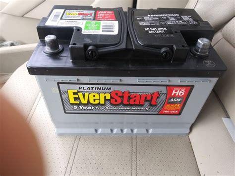 Everstart Maxx Platinum Agm H6 Car Battery With 5 Year