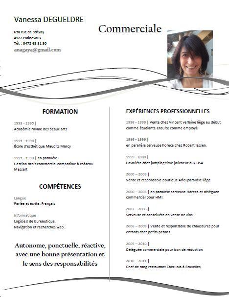 Modele Cv 2015 by Curriculum Vitae Mod 232 Le 2015 Mod 232 Le De Cv Professionnel