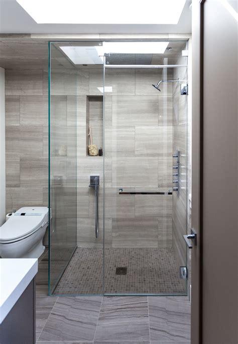 shower tile floor bathroom contemporary  bathroom