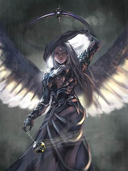 Wlop Wallpapers Digital Angel Wings Fantasy Woman