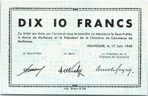 chambre du commerce mulhouse billet 10 francs mulhouse chambre de commerce