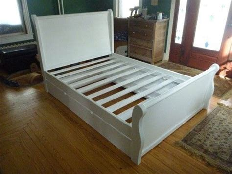 handmade sleigh bed wtrundle  ajc woodworking