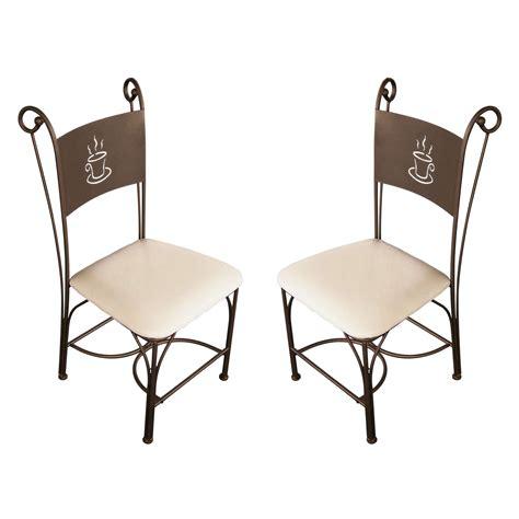 chaise de cuisine en fer forg 233 bronze coffee lestendances fr