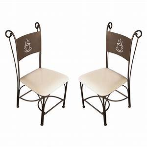 Les tendances chaise de cuisine en fer forge bronze coffee for Deco cuisine avec soldes chaises