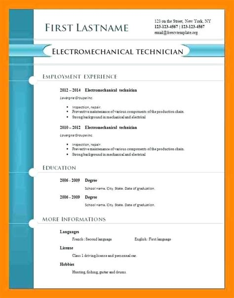 Free Resume Templates Pdf by Free Cv Template Pdf Choose Your Curriculum