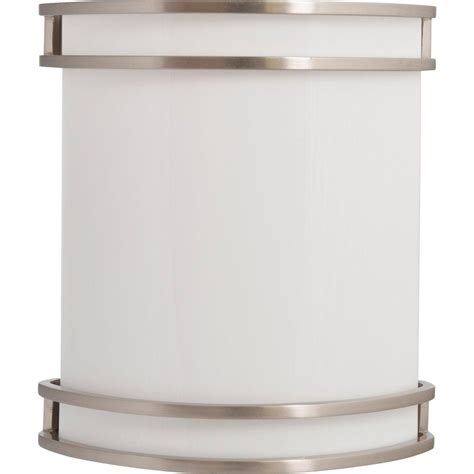 Home Depot Wall Light Sconce by Amax Lighting Ws Brushed Nickel Indoor Led Wall Sconce Led