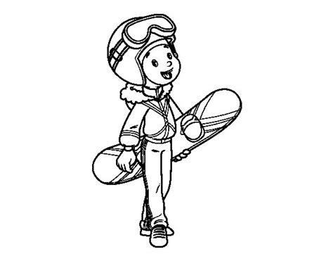 disegno di una ragazza da colorare disegno di una ragazza snowboard da colorare acolore