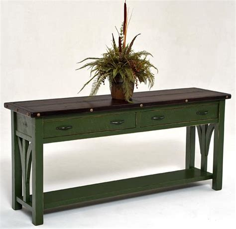 painted sofa table reclaimed wood furniture painted sofa table woodland creek furniture