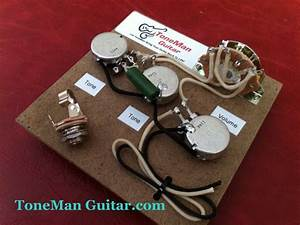 Stratocaster Prebuilt Wiring Kit Pio Tone Cap Bourn 250k Pots Cloth Wiring