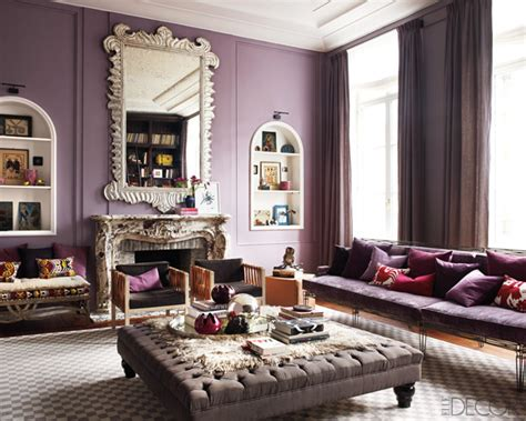 Purple Passion Wednesday Glamorous Living Room  Decor By