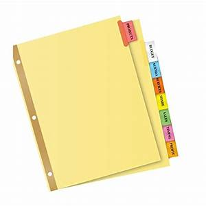 Avery big tab two pocket insertable plastic dividers 5 for Avery 3 tab dividers