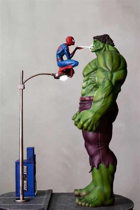 Homem Aranha Vs Hulk 1/5 Scale Custom Diorama S/ Juros R