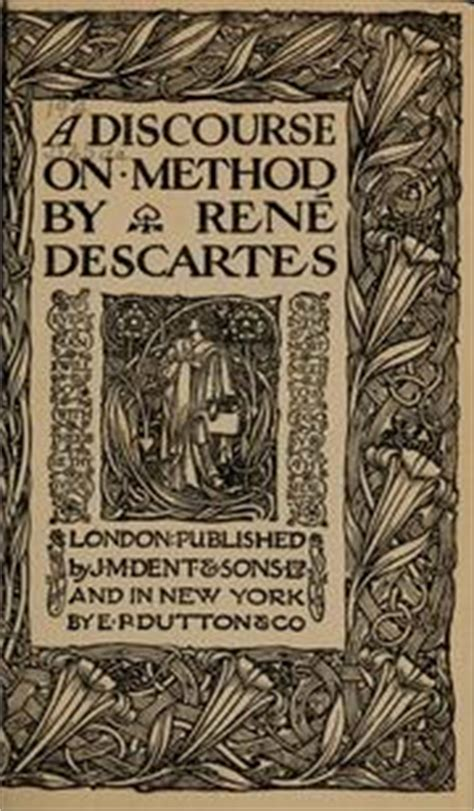 A Discourse On Method (1912 Edition)  Open Library
