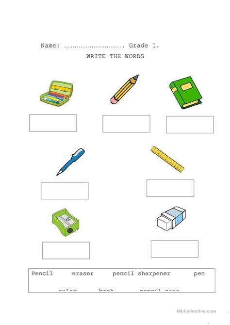 school things worksheet free esl printable worksheets