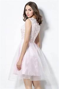 Robe Bal De Promo Courte : robe de bal de promo rose courte haut en dentelle ajour e ~ Nature-et-papiers.com Idées de Décoration