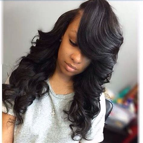 Sew In Weave Hairstyles With Side Bangs by 334 Best Medium Length Sew In Hairstyles Images On