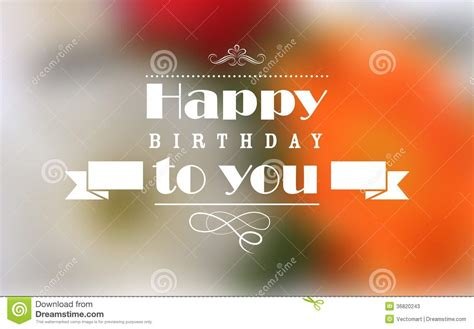 happy birthday typography background stock photos image 36820243