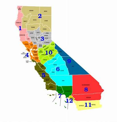 Caltrans District Map Svg California Transportation Department