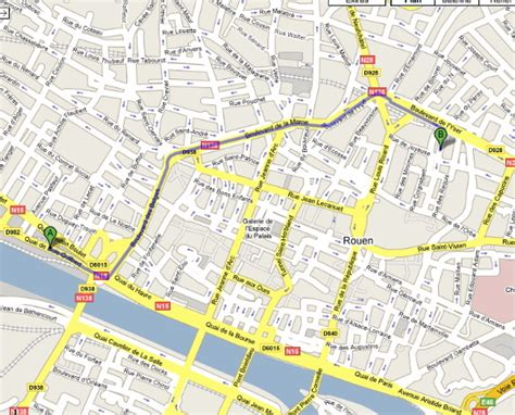 Mairie Ville De Plan De Plan De La Ville De Rouen