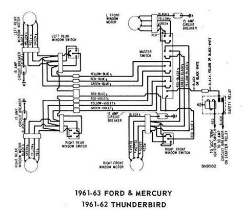 1960 Thunderbird Wiring Schematic by Windows Wiring Diagram For 1961 63 Ford Mercury And 1961