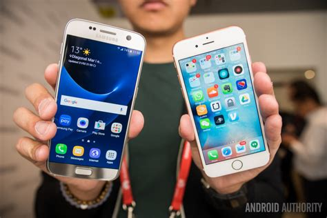 what s better iphone or galaxy samsung galaxy s7 vs iphone 6s on comparison