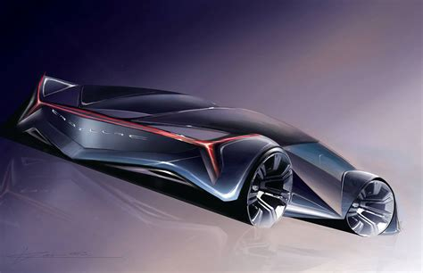 Cadillac Concept Car Design Sketch By Deven Row