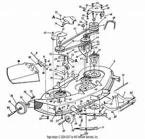 Mtd 14aj848h131  2000  Parts Diagram For Cutting Deck