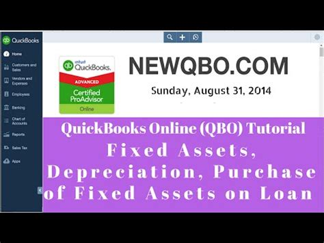 depreciation of fixed asset quickbooks online qbo fixed assets depreciation purchase