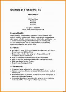 Cv template personal profile choice image certificate for Cv examples for students