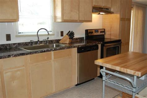 mobile home kitchen cabinets for mobile home kitchen remodel birch cabinets doityourself 9753