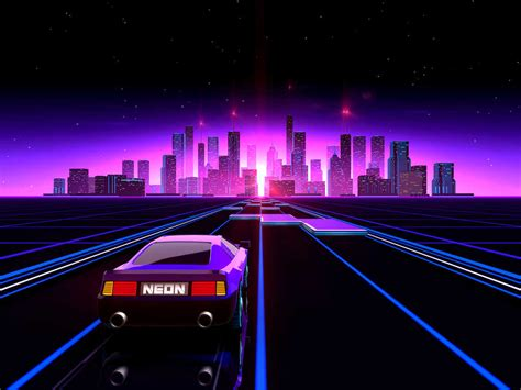 80s Neon City Wallpaper by Turbowave To The Max An Ode To 80 S Inspired Media