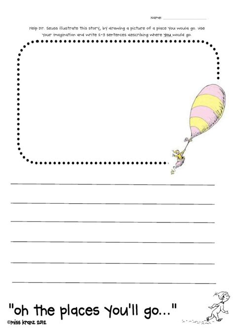 18 best oh the places you ll go images on dr 337   07b7108ec4050bb6a6850e5513568643 oh the places youll go worksheet oh the places youll go writing activity