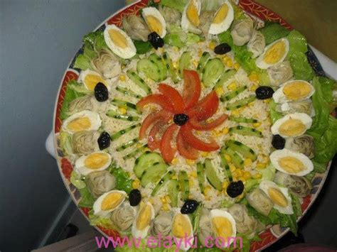 decoration de salade marocaine بالصور فن الديكور في تقديم السلطات المغربية 2013