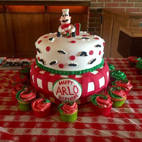 Italian Themed 1st Birthday Cake Pizza Birthday Cake