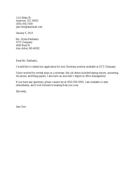 basic cover letter template basic cover letter for a resume