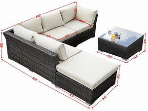 giantex 6pc patio sectional furniture pe wicker rattan With outdoor sectional sofa dimensions