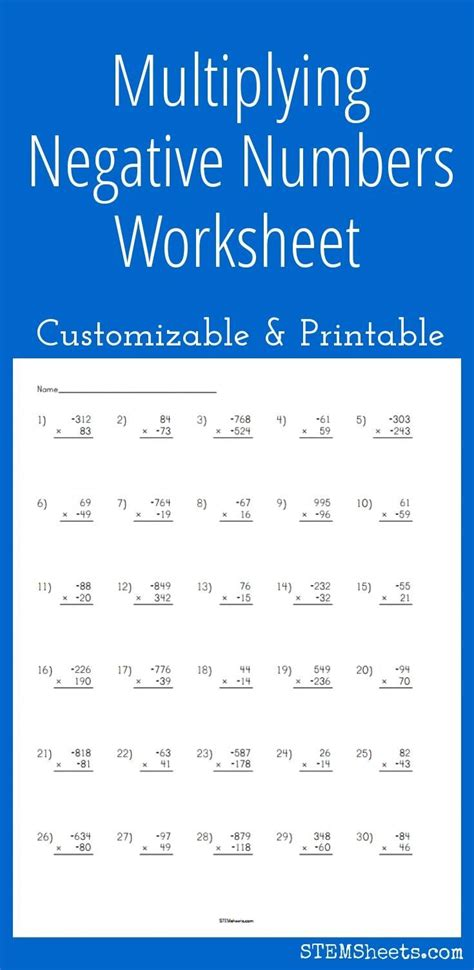 25+ Best Ideas About Negative Numbers Worksheet On Pinterest  Making Change Worksheets, Academy