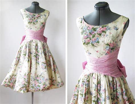 vintage  spring garden party dress  rustbeltthreads
