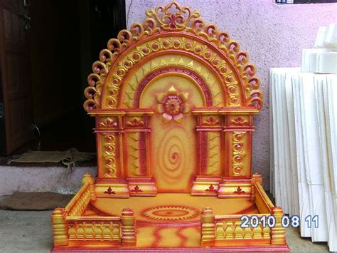 wallpapers ganapati makar ganesh decoration thermocol festivals ganesh