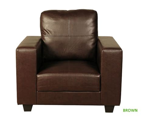 Briggs Faux Leather Armchair