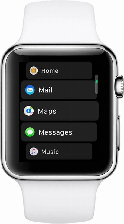 Apple Grid Screen Switch Between Apps App