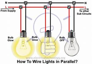 How To Wire Lights In Parallel  Switches  U0026 Bulbs Connection In Parallel