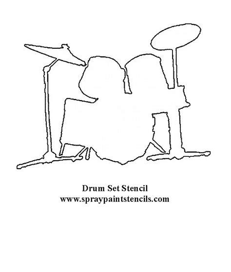 drum stencil template drum kit stencil fonts graphics downloads pinterest