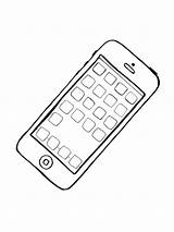 Coloring Phone Cell Printable Mycoloring sketch template