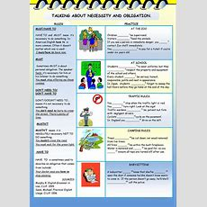 Talking About Necessity And Obligation Worksheet  Free Esl Printable Worksheets Made By Teachers